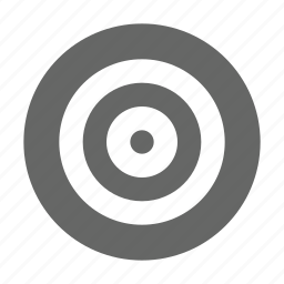 aim, bullseye, center, target icon