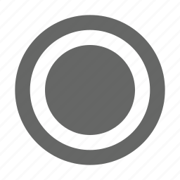 border, circle, media, multimedia, radio, record, select icon