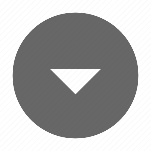 circle, down, solid, triangle icon