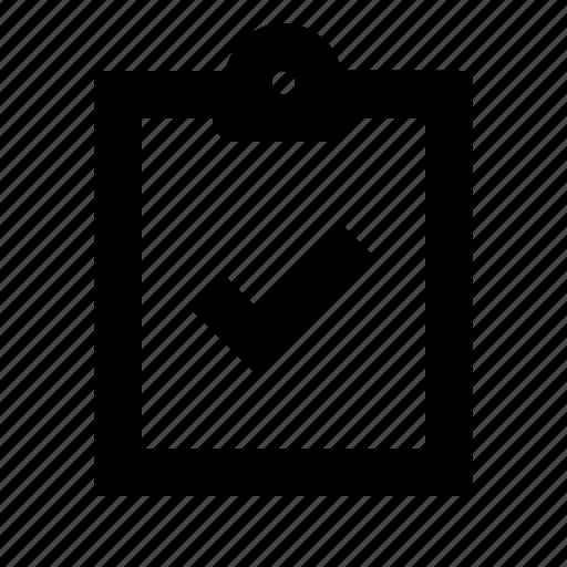 check, clipboard icon