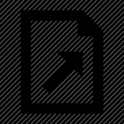 document, file, graph, line, paper, trend icon