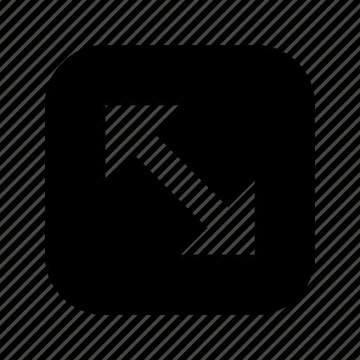 arrow, corners icon