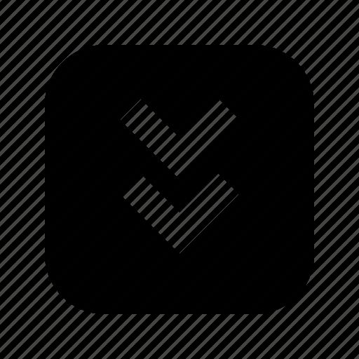 bottom, chevron icon