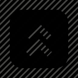 chevron, up icon