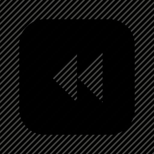 double, left, triangle icon