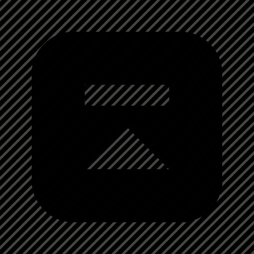skip, up icon