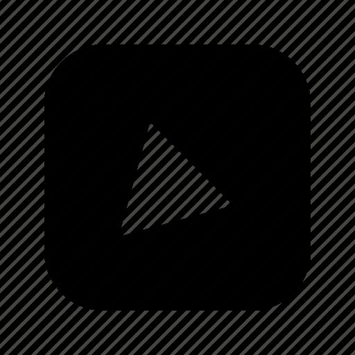 alt, bottom, left, triangle icon
