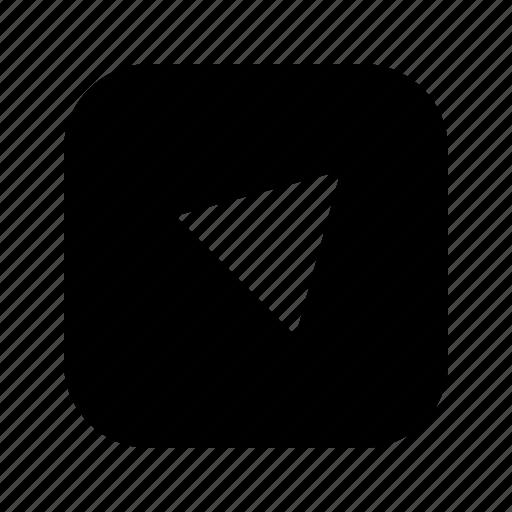 alt, right, top, triangle icon