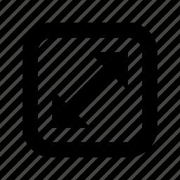 alt, arrow, corners, rounded, square icon