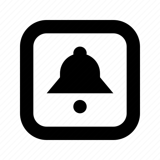 bell, rounded, square icon