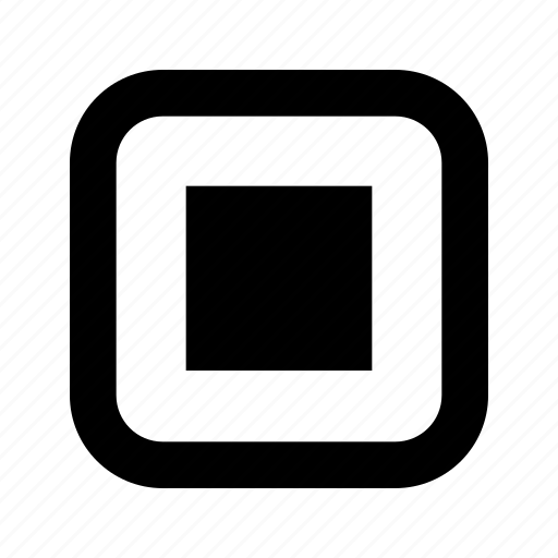 center, large, rounded, square icon