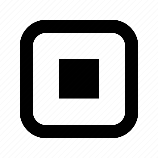 center, rounded, small, square icon