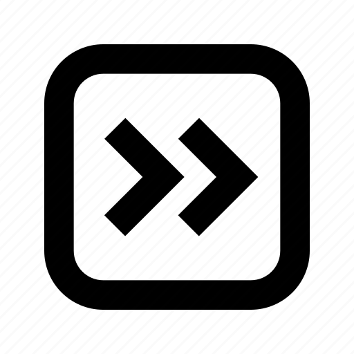 chevron, right, rounded, square icon