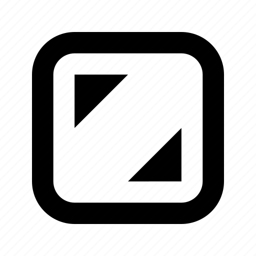 corners, rounded, square icon