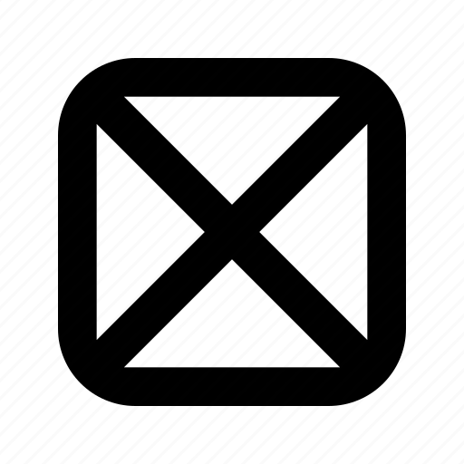 cross, full, rounded, square icon