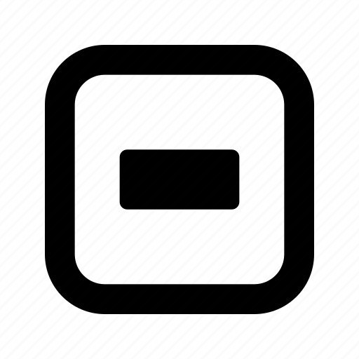 dash, rounded, square icon