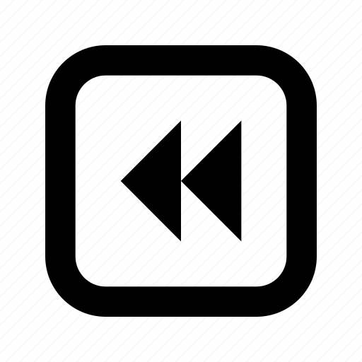 double, left, rounded, square, triangle icon