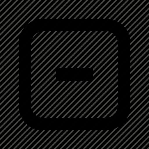 minus, rounded, square icon