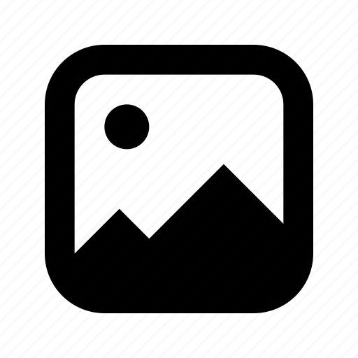 photo, rounded, square icon