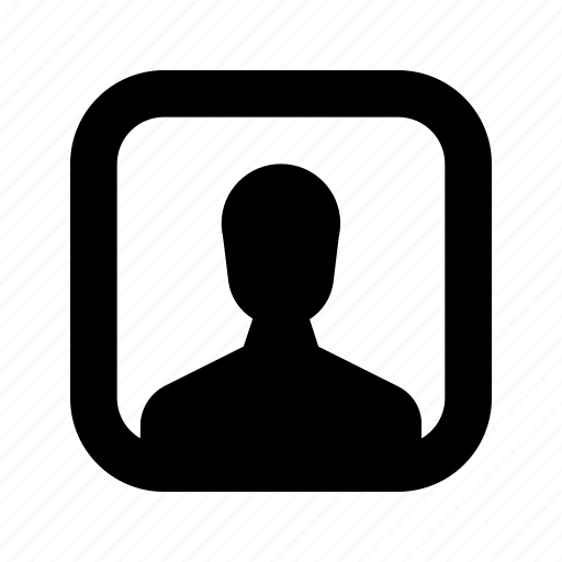 profile, rounded, square icon