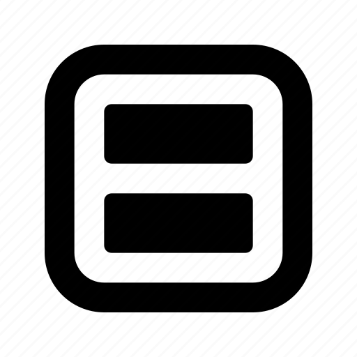 rounded, rows, square icon