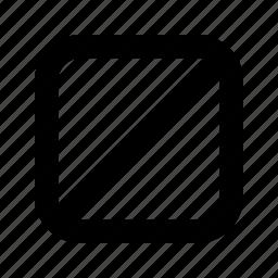 full, rounded, slash, square icon