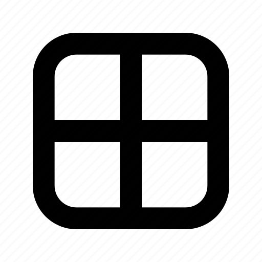grid, rounded, square, table icon