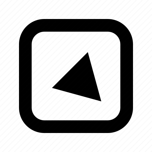 alt, bottom, right, rounded, square, triangle icon