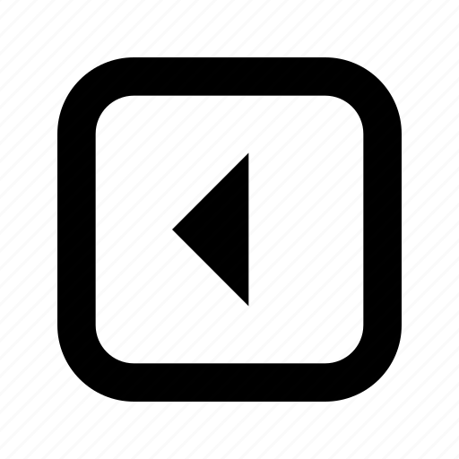 left, rounded, square, triangle icon