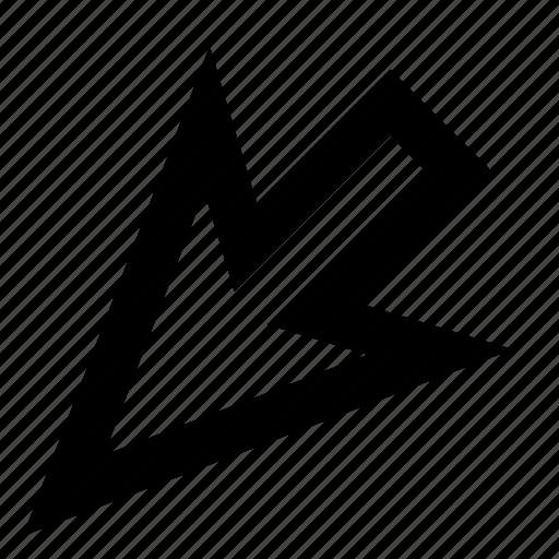 arrow, bottom left, click, cursor, mouse, pointer, select icon