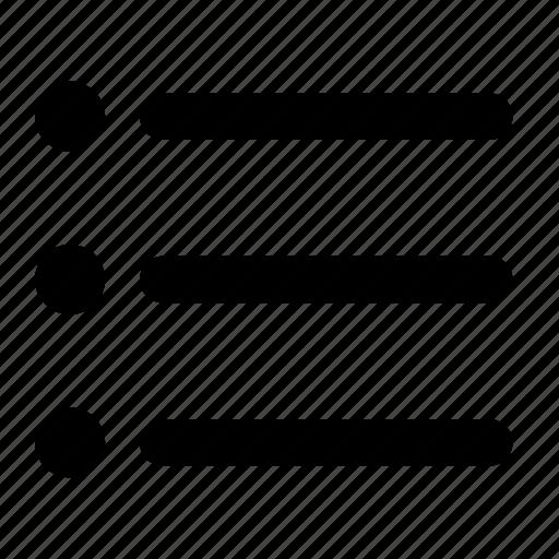 bulleted, checklist, filter, format, list, reminder, task icon