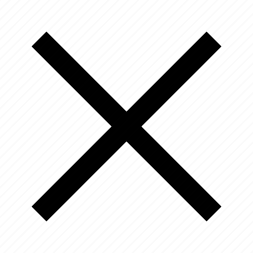 close, cross, delete, dismiss, exit, remove, x icon