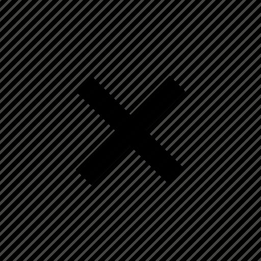 close, cross, delete, dismiss, exit, remove, x icon