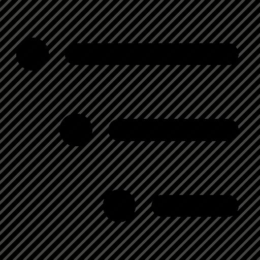 bullet, checklist, hierarchy, list, ordered, tasklist, tasks icon