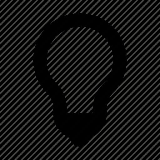 bulb, electricity, idea, light, lightbulb, power, thought icon