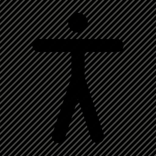 accessability, figure, person icon