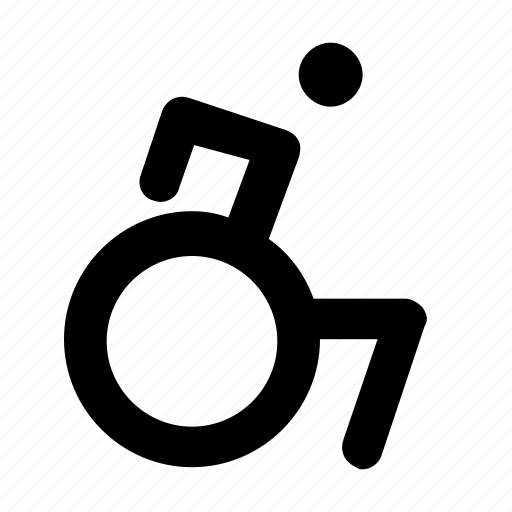 accessable, accessibility, exercise, handicap, handicapable, wheelchair icon