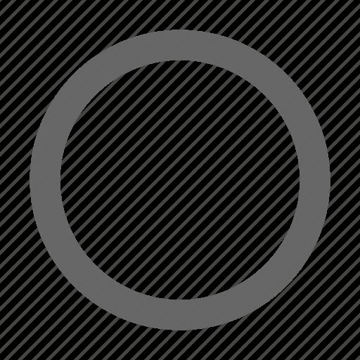 circle, circular, radio button, round, select, unselected icon
