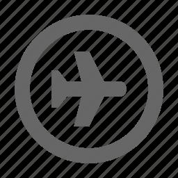 airplane, airport, flight, fly, plane, transportation, travel icon