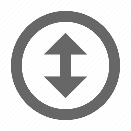 arrow, direction, height, north south, size, top bottom, up down icon