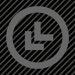 bottom, chevron, circle, left icon
