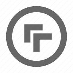 chevron, circle, left, top icon