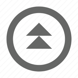 direction, double triangle, navigation, north, top, up, upload icon