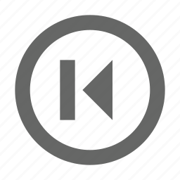 back, left, media, multimedia, navigation, previous, skip icon