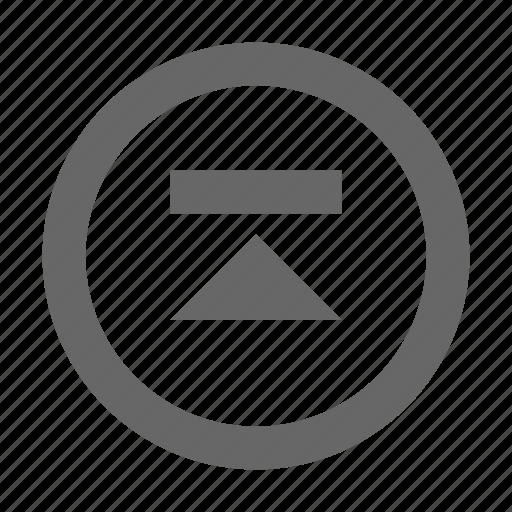 circle, skip, up icon