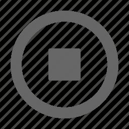 audio, media, multimedia, pause, square, stop, video icon