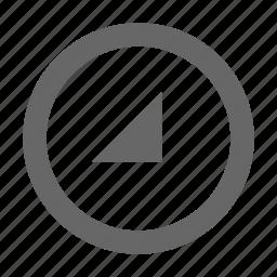 bottom, circle, right, triangle icon