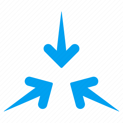 arrows, collapse, compress, minimize, navigation, point, pointer icon