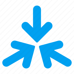 collapse, collide arrows, meeting point, press, reduce, resize, shrink icon