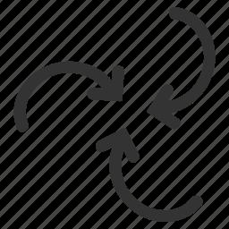 spiral movement, swirl, twirl, twister, vortex, whirl, whirlpool icon